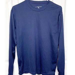 BROOKS blue long-sleeve running performance shirt
